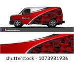 van graphics.abstract curved... | Shutterstock .eps vector #1073981936