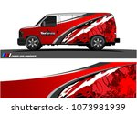 van graphics.abstract curved... | Shutterstock .eps vector #1073981939