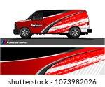 van graphics.abstract curved... | Shutterstock .eps vector #1073982026