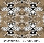 ethnic design. striped... | Shutterstock . vector #1073984843