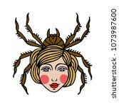 spider girl illustration... | Shutterstock .eps vector #1073987600