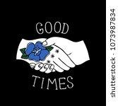 good times illustration... | Shutterstock .eps vector #1073987834