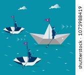 business advantage. metaphor ...   Shutterstock .eps vector #1073988419
