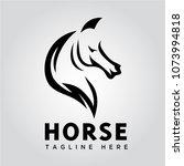 elegant horse head logo   Shutterstock .eps vector #1073994818