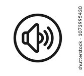 music player icon concept.... | Shutterstock .eps vector #1073995430