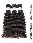 deep curly black human hair... | Shutterstock . vector #1073997563