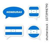 set of honduras flag in... | Shutterstock .eps vector #1073998790