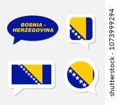 set of bosnia and herzegovina... | Shutterstock .eps vector #1073999294