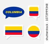 set of columbia flag in... | Shutterstock .eps vector #1073999348