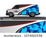 cargo van graphic vector....   Shutterstock .eps vector #1074002558