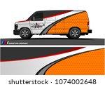 cargo van graphic vector....   Shutterstock .eps vector #1074002648