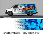 cargo van graphic vector.... | Shutterstock .eps vector #1074005549