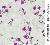 seamless pattern of small... | Shutterstock . vector #1074007199