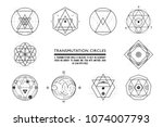 set of transmutation circles ... | Shutterstock .eps vector #1074007793