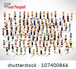a large group of people gather... | Shutterstock .eps vector #107400866