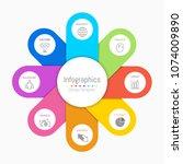 infographic design elements for ... | Shutterstock .eps vector #1074009890