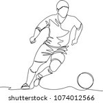 the player with the ball. one... | Shutterstock .eps vector #1074012566