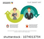 two ideas process chart... | Shutterstock .eps vector #1074013754