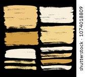 grunge hand drawn paint brush.... | Shutterstock .eps vector #1074018809