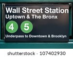 Wall Street Subway Station In...
