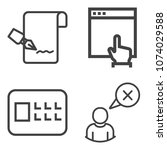 premium outline set containing... | Shutterstock .eps vector #1074029588