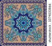 fantastic flower ornament with... | Shutterstock .eps vector #1074033866