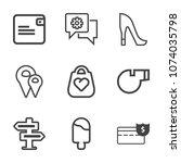 premium outline set of icons...   Shutterstock .eps vector #1074035798