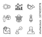 premium outline set of icons... | Shutterstock .eps vector #1074035978