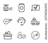 premium outline set of icons...   Shutterstock .eps vector #1074036593