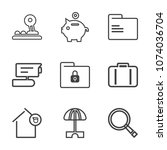 premium outline set of icons... | Shutterstock .eps vector #1074036704