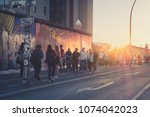 berlin  germany   april 2018 ... | Shutterstock . vector #1074042023