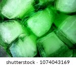 ice with green water in the... | Shutterstock . vector #1074043169