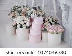 flower decor. wedding decor...   Shutterstock . vector #1074046730