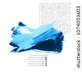 blue brush stroke and texture.... | Shutterstock .eps vector #1074053603