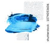 blue brush stroke and texture.... | Shutterstock .eps vector #1074053606