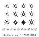 flat style star shape elements...   Shutterstock .eps vector #1074057344
