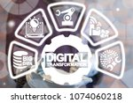 digital transformation industry ... | Shutterstock . vector #1074060218