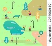 illustration in flat design.... | Shutterstock .eps vector #1074060680