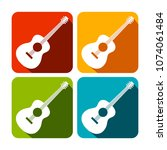 acoustic guitar square icon... | Shutterstock .eps vector #1074061484