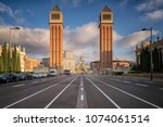 placa d'espanya. this iconic... | Shutterstock . vector #1074061514