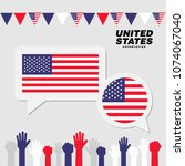 national celebration with... | Shutterstock .eps vector #1074067040