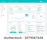 dashboard user admin panel... | Shutterstock .eps vector #1074067646