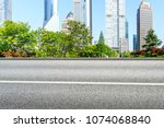 urban road and commercial... | Shutterstock . vector #1074068840