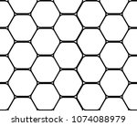 ornament with honeycomb. simple ... | Shutterstock .eps vector #1074088979