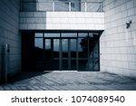 building glass entrance | Shutterstock . vector #1074089540