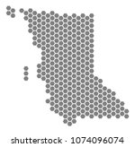 gray hexagon british columbia... | Shutterstock .eps vector #1074096074