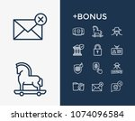 secure icon set and security... | Shutterstock . vector #1074096584