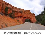 rock tunnel  red canyon of... | Shutterstock . vector #1074097109