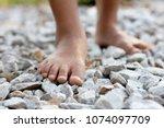 Closeup Of A Girl Bare Feet...