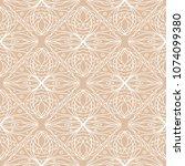 beige and white geometric... | Shutterstock .eps vector #1074099380